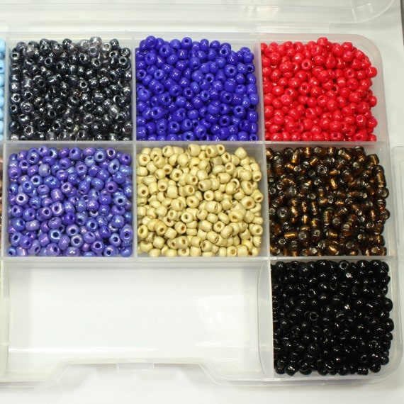 6 0 seed bead kit 10 colors seed craft supplies