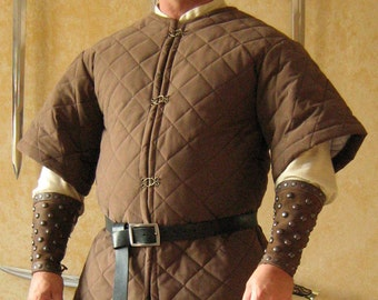 Medieval Celtic Viking Armor Padded Gambeson Short Sleeves