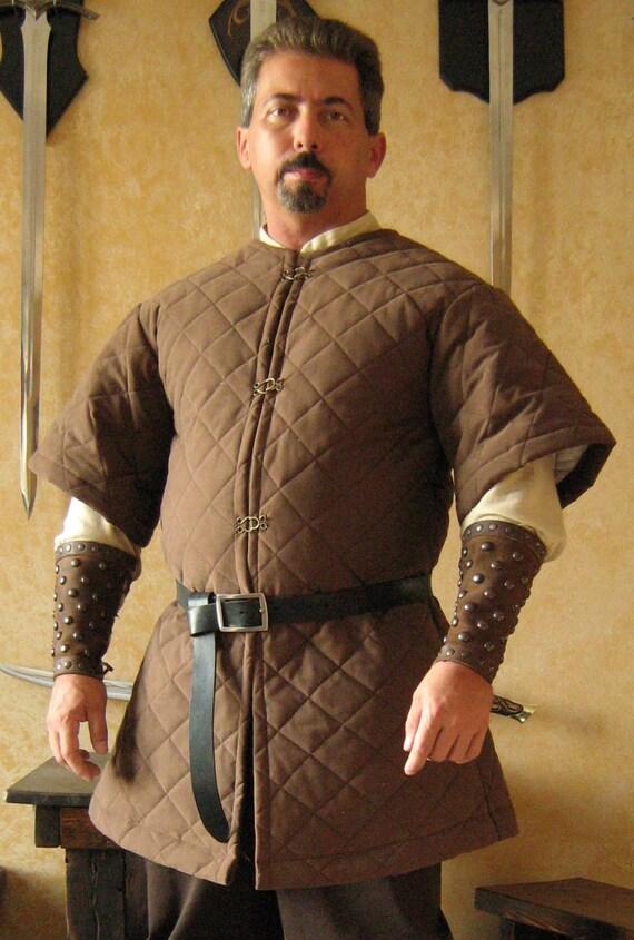 Medieval Celtic Viking Armor Padded Gambeson Short Sleeves