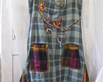 CLASSIC RL Jumper, Plaid Nantucket Lifestyle, Altered Couture, Preppy Meets Arty Chic, Soft Linen Dress, Laid-Back Easy Comfort