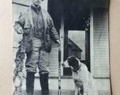 Hunter, Shotgun & Bird Dog Antique Photo
