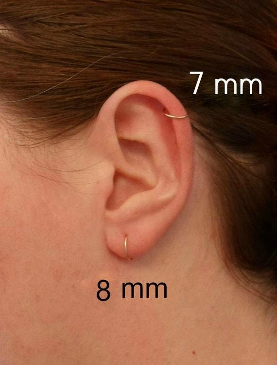 Pink Rose Gold Hoop Earring Cartilage Tragus Helix Eyebrow