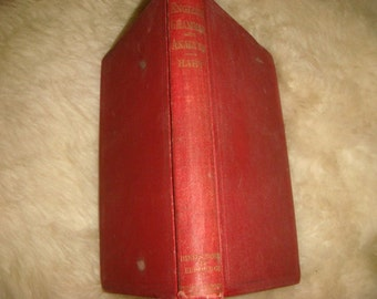 1899 Copy A Grammar of the English Language with an Analysis of the Sentence By Hart Rhetoric Professor Book