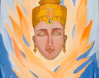 ORIGINAL ART Devi Acrylic Painting