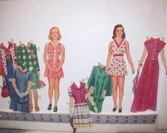 "Vintage 1942 ""Quiz Kids"" paper dolls Partial Set  #2430  Saalfield"