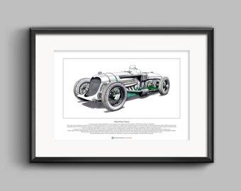 Napier-Railton Special Limited Edition Fine Art Print A3 size