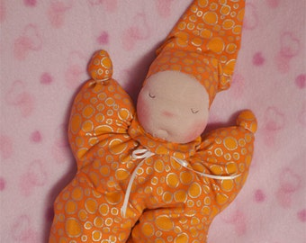SALE! Waldorf style Sleepy Baby doll, Baby's First doll, Butterfly doll