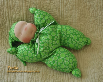 Fretta's Waldorf style Sleepy Baby doll, Baby's First doll, Butterfly doll
