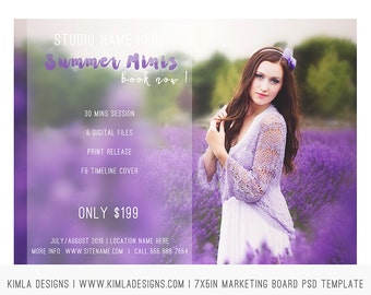 Summer Marketing Board Mini Session PSD Template