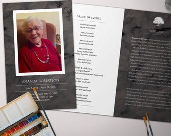 Funeral Program for Memorial Order of Service - Digital File