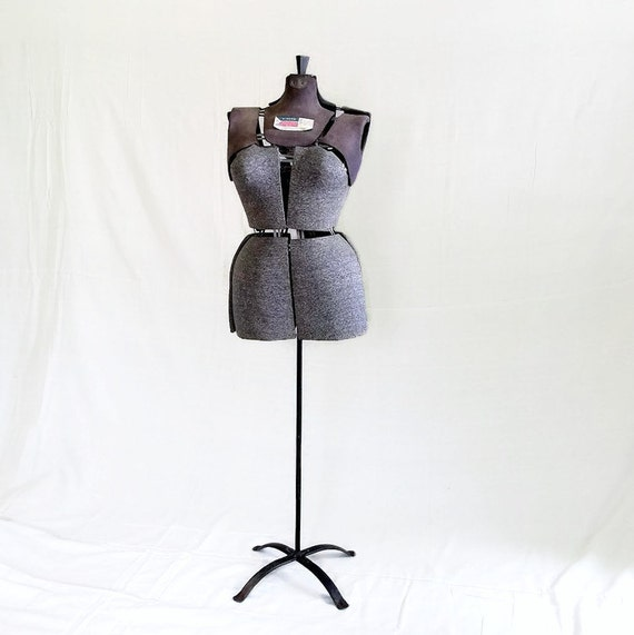 Vintage sewing mannequin dress form adjustable by citybeepster