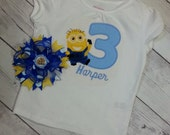 Minion Birthday T-shirt & Bow Set