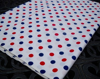Vintage Fabric, Red, White, and Blue, Polka Dots, Wonderful