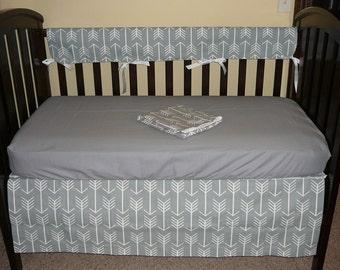 Bumperless Crib Set, You Pick the Fabric