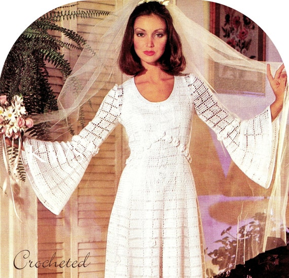 Vintage CROCHET Wedding Dress PDF Pattern Crochet Wedding