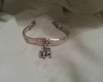 Spoon Bracelet, Vintage, Silverware Jewelry, Spoon Jewelry, Bulldog