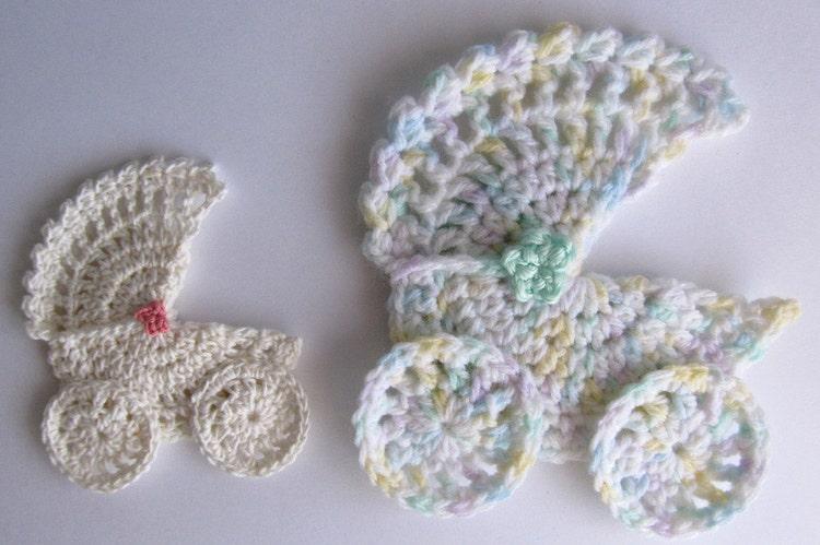 Crochet Pattern For Dolls Pram : PATTERN Baby Buggy/Stroller/Pram Applique Novelty by ...