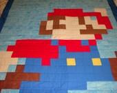 Super Mario Quilt Infant Quilt Stroller Quilt Baby Boy Quilt