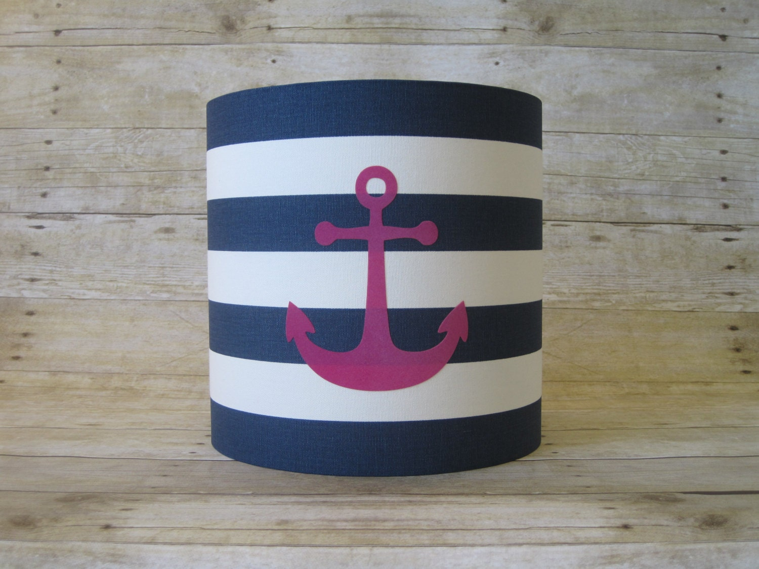lamp shade anchor drum lampshade in navy blue by. Black Bedroom Furniture Sets. Home Design Ideas