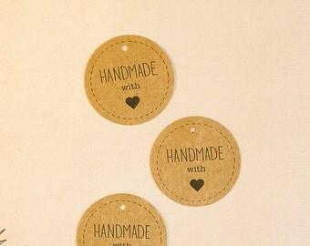 Handmade kraft tags (10)