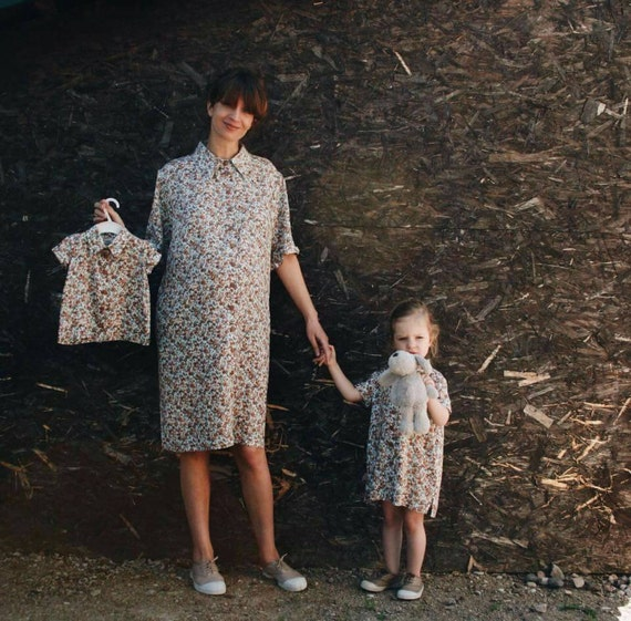 Mother and Daughter Dresses - Matching Dresses - Mommy and Me Dresses - Floral Print Dresses - Handmade Dresses by OFFON