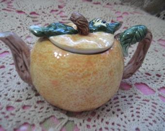 Darling Pumpkin Teapot Sweet SHUN HUI ,Collectiable Teapot, Tea Pot, Pumkin,Pumkin Teapot,Vintage Kitchen :)S