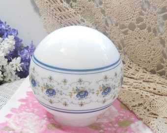 Pretty Blue and white Abigail Adams Round Lamp Shade 9 Inches tall  :)/Not included in Clearance Coupon Sale