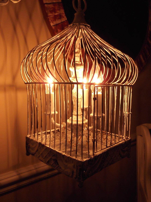 Chandelier Floor Lamp Vintage Chandelier Bird Cage Light
