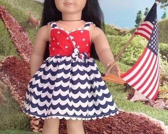 Patriotic Sundress for American Girl Doll