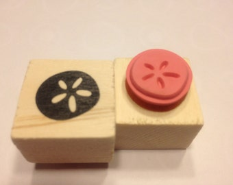 small sand dollar rubber stamp, 15 mm (BB3)