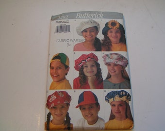 Vintage Butterick Pattern 3282 Child Hats