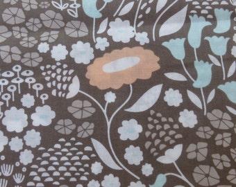 1/2 Yard Organic Cotton Fabric - Cloud 9 Fabrics, Morning Song, Lush Lullabye Gray