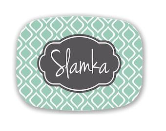 Design Your Own Personalized Melamine Platter, Monogrammed Platter, Tailgating Tray,  Hostess Gift, Wedding Gift,  Housewarming Gift
