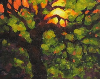 From Within - Small Original Fantasy Tree Painting