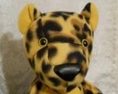 ONE SALE Fuzzy plush Golden Leopard toy plush  25% OFF original price
