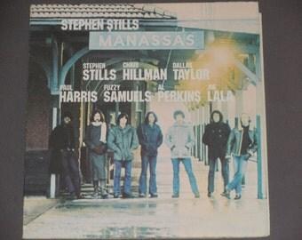 """Manassas - Stephen Stills - """"Hide It So Deep"""" - """"Johnny's Garden"""" - Warner Brothers Records 1972 - Vintage Gatefold Vinyl 2 Record Album"""