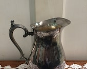Silver plate water pitcher