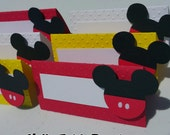 Set of 12 -  Mickey Mouse Food Labels, Buffet Tents, Disney Food Labels, Mickey Mouse Party, Mickey Mouse Birthday, Disney Decorations