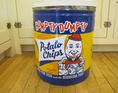 Humpty Dumpty Potato Chips Tin, Humpty Dumpty Potato Chips, Humpty Dumpty, Vintage Tin, Large Tin Can, Potato Chips, Advertising
