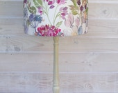Drum lampshade light shade pendant table lamp in Voyage Maison Country Garden linen floral woodland fabric 20cm 30cm 40cm