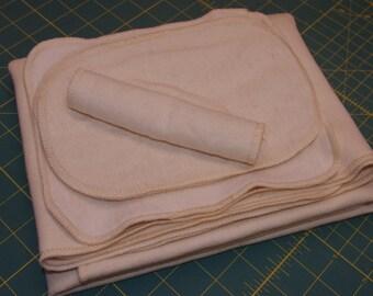 Organic Baby New Baby Set - Organic Cotton/Hemp Fleece Receiving Blanket, Wash Mitten and 4 Wipes - in-stock