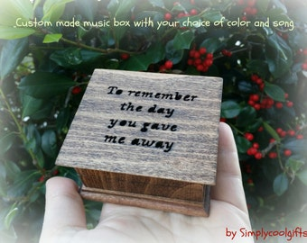 music box, wedding music box, wedding favor, father of bride gift, father of the bride gift, personalized gift, wedding gift