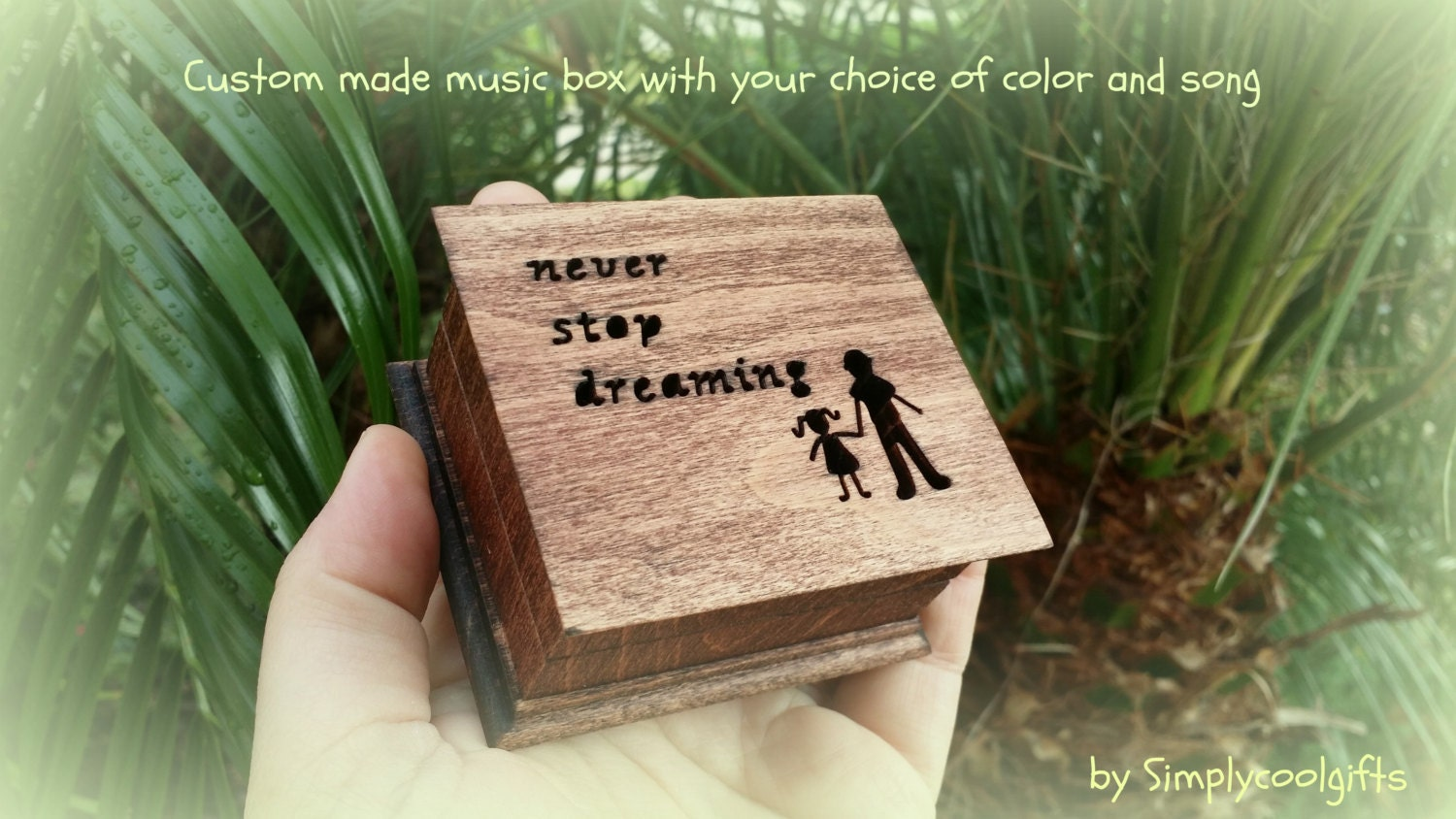 Music Box Wedding Music Box Gift For Daughter Never Stop