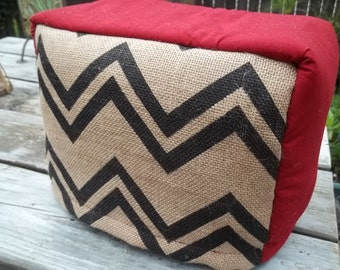 Chevron Toaster Burlap Quilted Custom Made CHOOse COlor