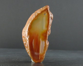 Agate slice pendant , Jewelry making supplies , Natural stone B5216