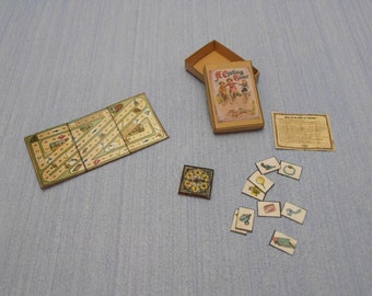 Gaël Miniature vintage game A Cycling Tour   1:12 Scale Dollhouse Miniature toys  child accesories handmade