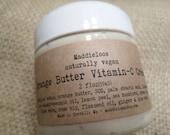 Vegan-Orange Butter Vitamin C Creme-Antioxidants-Anti-Inflammatory-Increased Collagen-Anti Wrinkle-2oz.