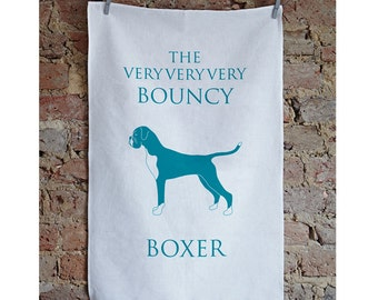 Boxer Tea Towel - Boxer Design - Boxer Present - Boxer Gift - Boxer Dog - Boxer Birthday Present - Dog Lover Gifts - Gifts For Dog Lovers