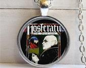 Vampire Necklace, Nosferatu Pendant, Goth Jewelry, Pop Culture Jewelry, Vampire Pendant