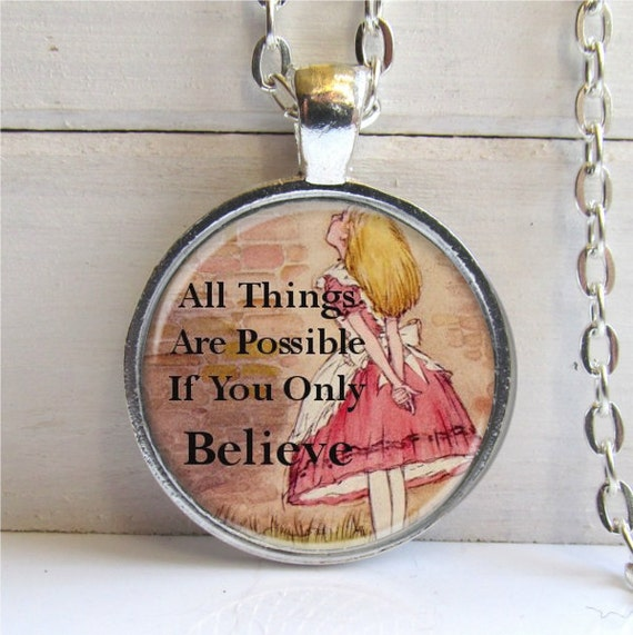 Alice In Wonderland Pendant, Alice Charm Necklace, Alice In Wonderland Jewelry